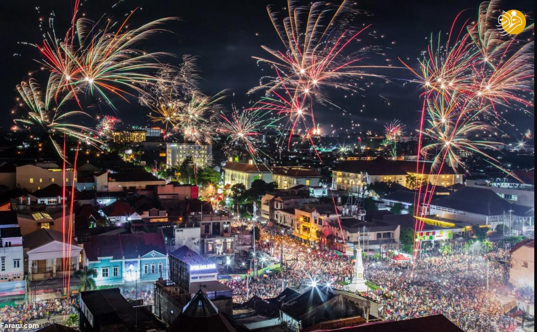 (تصاویر) آتشبازی آغاز سال ۲۰۱۹ در شهرهای مختلف جهان