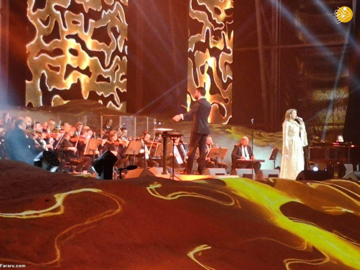 (تصاویر) جنجال برگزاری کنسرت در نزدیکی حرم پیامبر(ص)