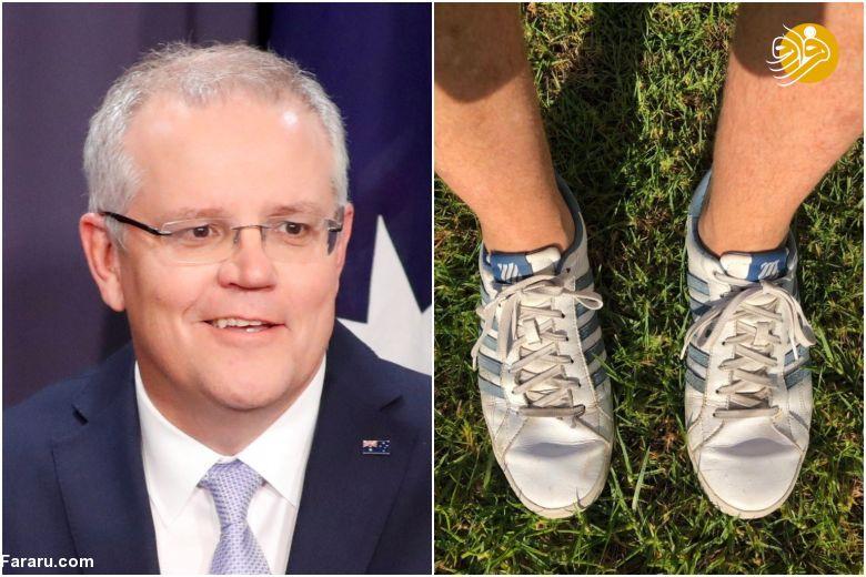 (تصویر) کفش جعلی نخستوزیر استرالیا جنجالی شد