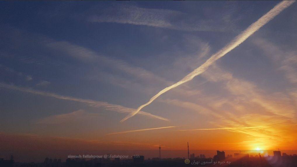 (تصاویر) ماجرای خطوط عجیب در آسمان ایران چه بود؟