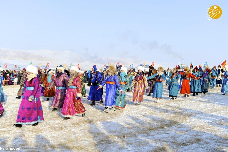 (تصاویر) از شترسواری تا رقص در جشنواره زمستانی مغولها