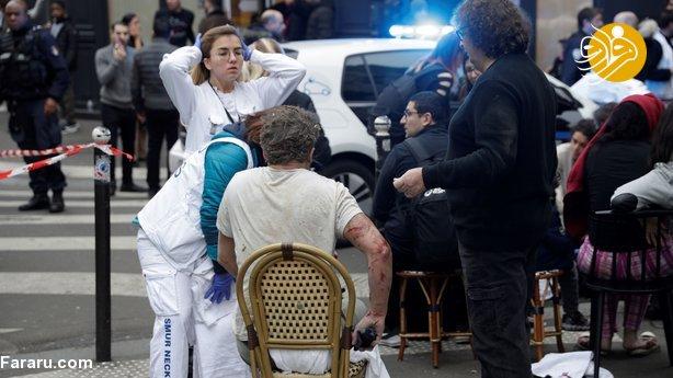 (تصاویر) انفجار مهیب در مرکز پاریس