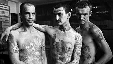 (تصاویر) خالکوبیهای عجیب روی بدن زندانیان در شوروی