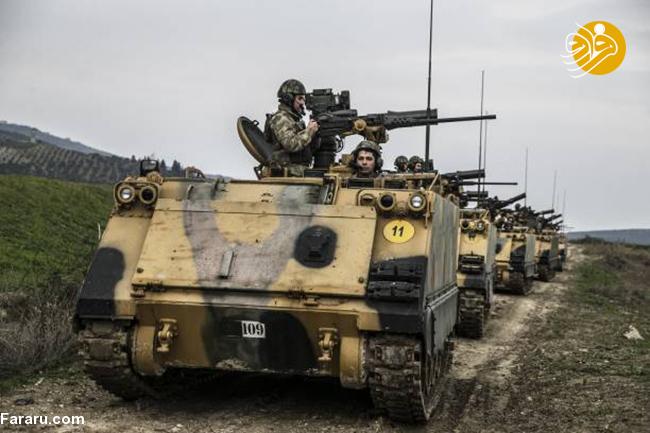 (تصاویر) ارتش ترکیه آماده حمله به سوریه