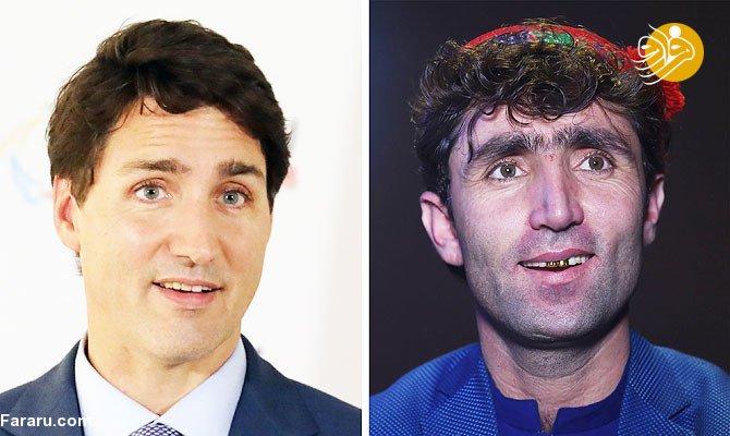 (تصاویر)  شباهت عجیب یک خواننده با نخست وزیر کانادا