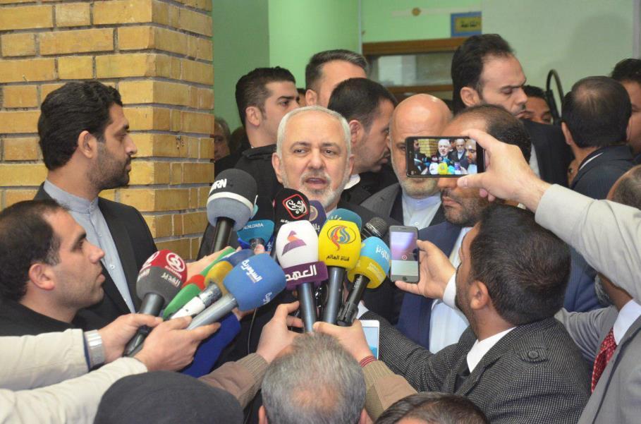 ظریف: پمپئو حق دخالت در روابط ایران و عراق ندارد