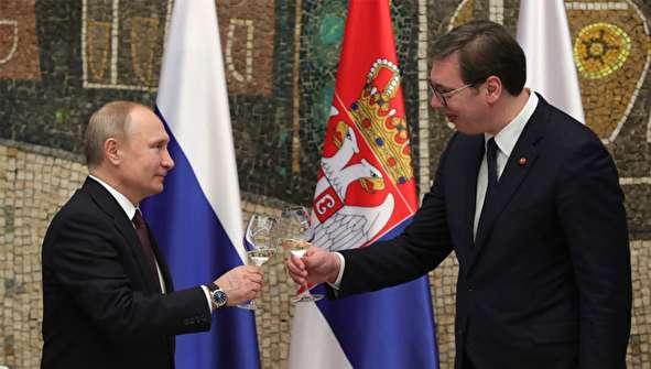 (تصاویر) سفر پوتین به صربستان