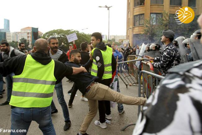 (تصاویر) خشم مردم لبنان از وضع بد اقتصادی