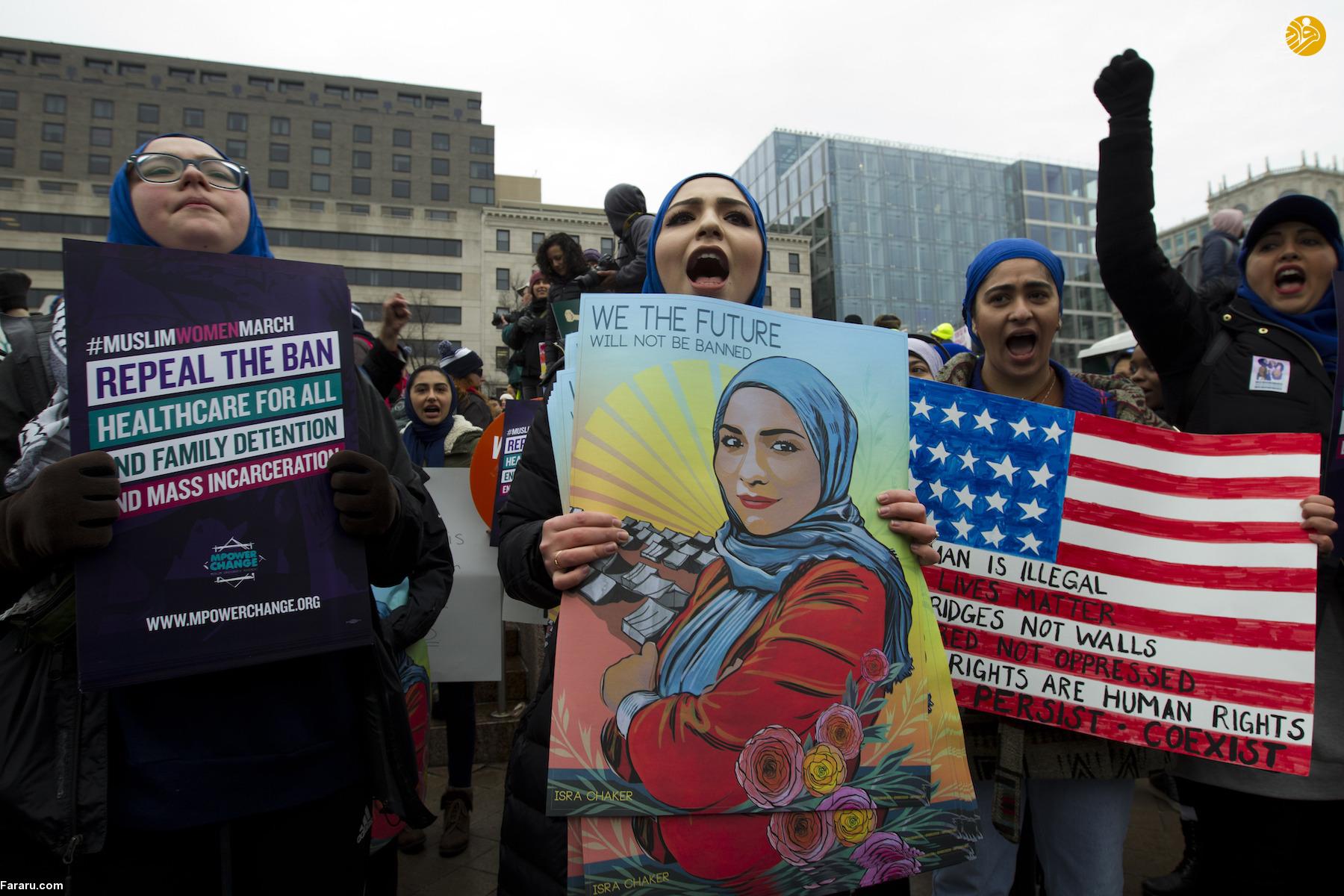(تصاویر) خروش زنان آمریکایی علیه ترامپ