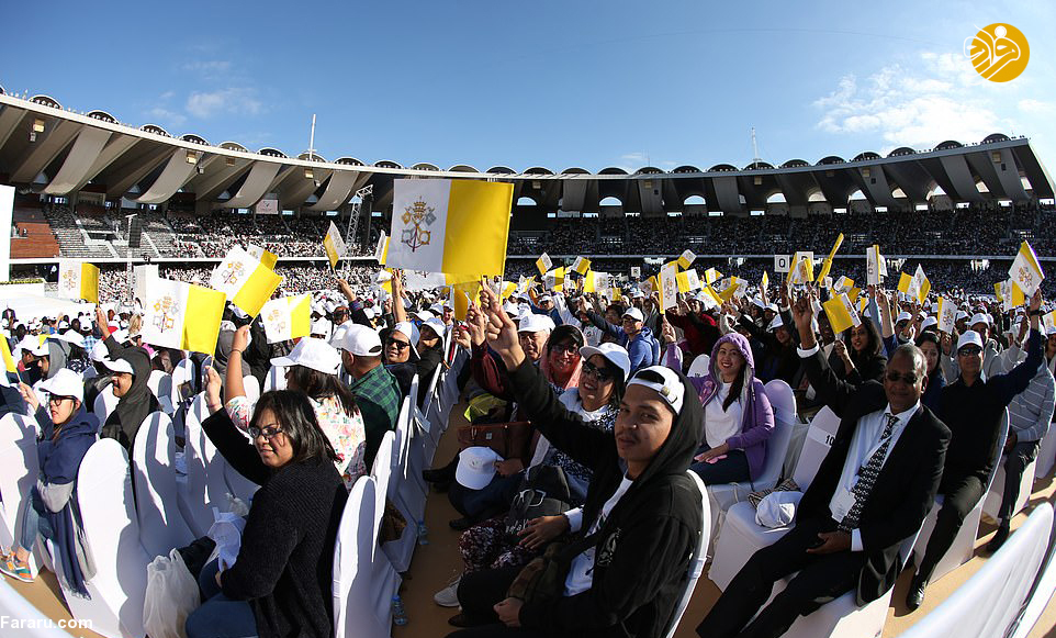(تصاویر) آیین عشای ربانی با حضور پاپ و ۱۷۰هزار نفر در امارات