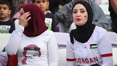 (تصاویر) دختران اردنی، محجبهترین تماشاگران در جام ملتها