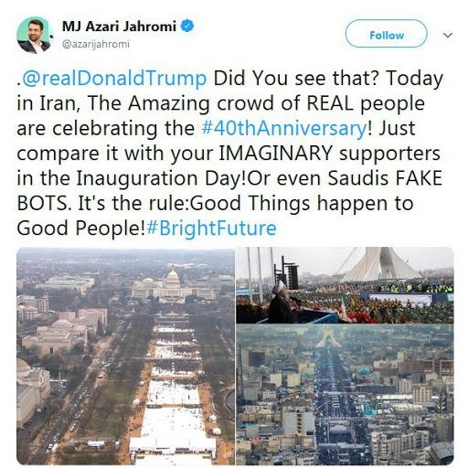 توییت وزیر ارتباطات برای ترامپ