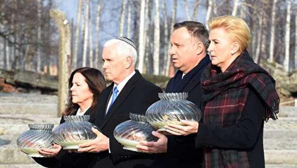 (تصاویر) اندوه معاون ترامپ در اردوگاه کار اجباری!