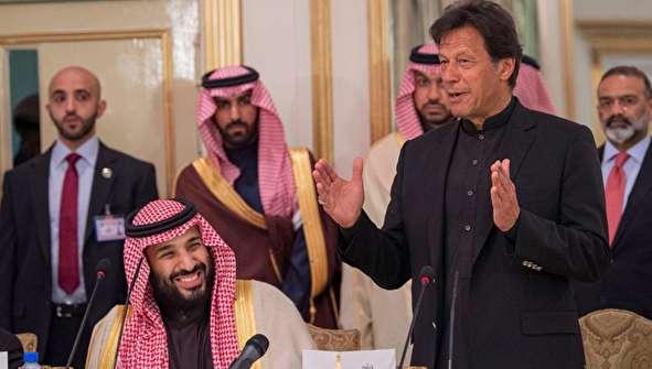 (تصاویر) استقبال گرم عمران خان از بن سلمان