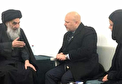 (تصاویر) دیدار کریم خان با آیت الله سیستانی