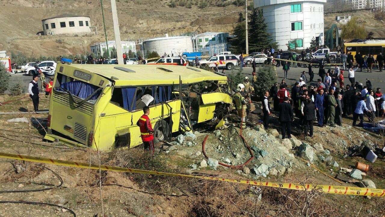 ترخیص تمامی مصدومان اتوبوس دانشگاه آزاد