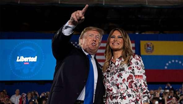 (تصاویر) ترامپ و همسرش در جامعه ونزوئلایی آمریکایی