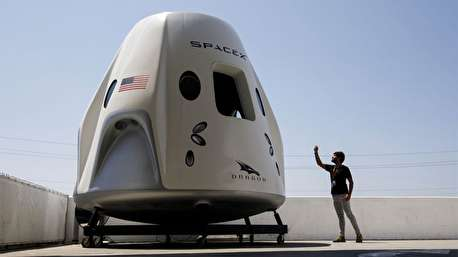 بازگشت کپسول فضایی دراگون به زمین