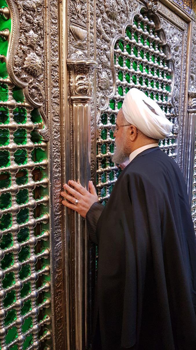 (تصاویر) روحانی حرمین شریفین کاظمین را زیارت کرد