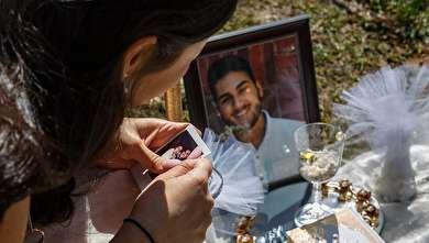 قتل جوان ایرانی در آمریکا؛ سفره عقد سارا بر سر قبر محمد!