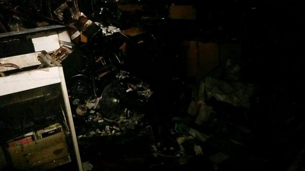 (تصاویر) آتشسوزی در مجتمع کامپیوتر پایتخت