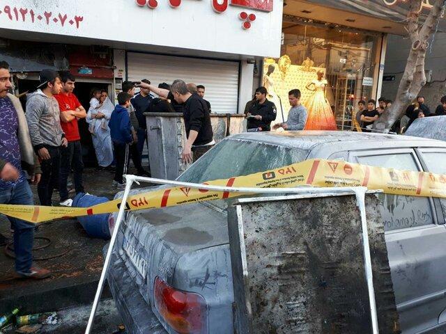 (تصاویر) انفجار بساط یک دستفروش مواد محترقه در تهران