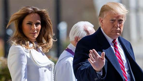 (تصاویر) ترامپ و همسرش به کلیسا رفتند
