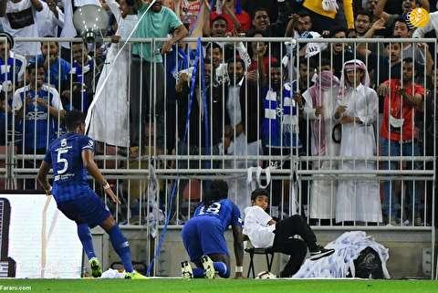 (تصاویر) وحشت توپ جمع کن از خوشحالی مهاجم الهلال!
