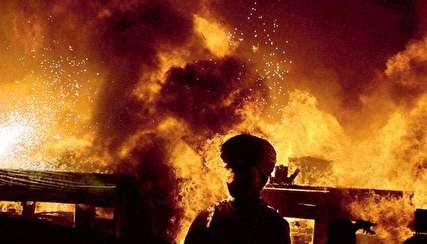 (ویدیو) آتش سوزی مهیب در بنگلادش