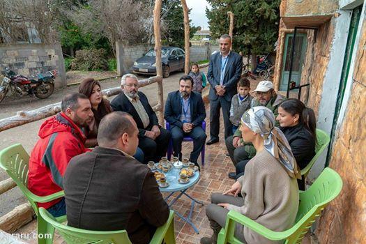 (تصاویر) دیدار همسر بشار اسد با مردم شهر حمص
