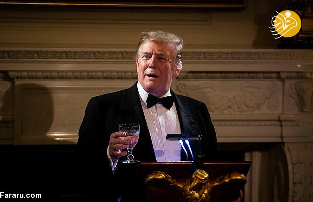 (تصاویر) ضیافت شام ترامپ و ملانیا برای فرمانداران