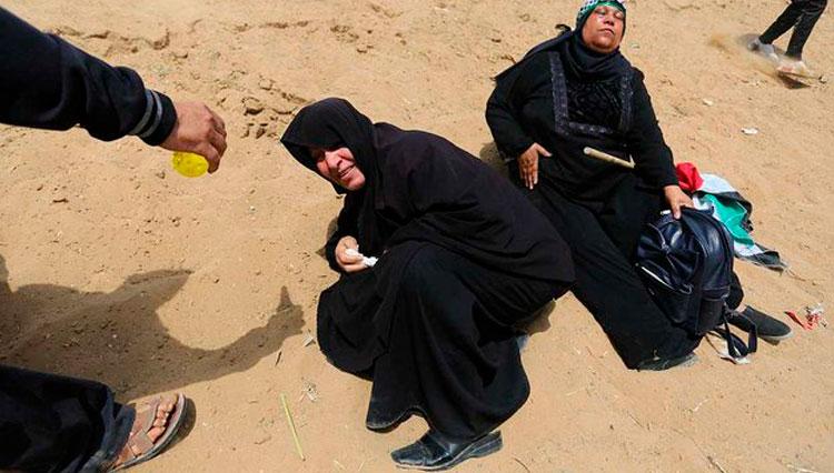 تظاهرات غزه علیه انتقال سفارت آمریکا به بیتالمقدس/ دهها شهید و هزاران مجروح