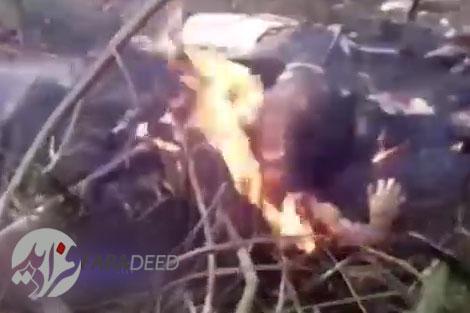 صحنه دلخراش سوختن جنازههای مسافران پس از سقوط هواپیما