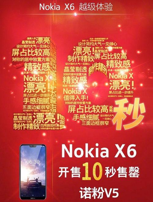 نوکیا X. ۶ تنها در ۱۰ ثانیه به اتمام رسید!