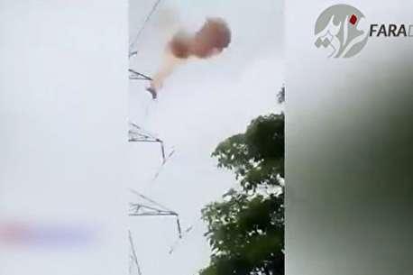(ویدئو) مرگ هولناک جوان ۲۰ ساله با سقوط از دکل برق