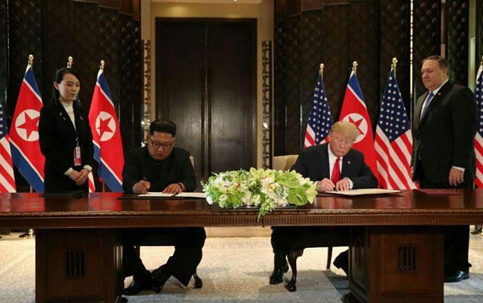 دیدار تاریخی ترامپ و اون در سنگاپور