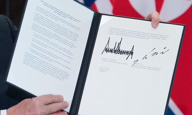 جزییاتی از سند امضا شده توسط ترامپ و اون