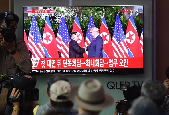 (تصاویر) واکنش مردم  آسیای شرقی به دیدار ترامپ و