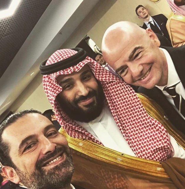 (تصاویر) سلفی حریری با پوتین و بن سلمان