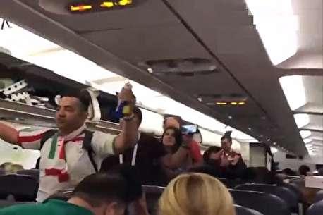 (ویدئو) پرواز تماشاگران ایرانی از سن پترزبورگ به کازان