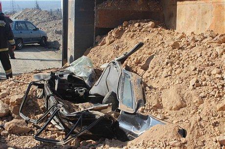 فوت چهار سرنشین پراید در تصادف با کامیون