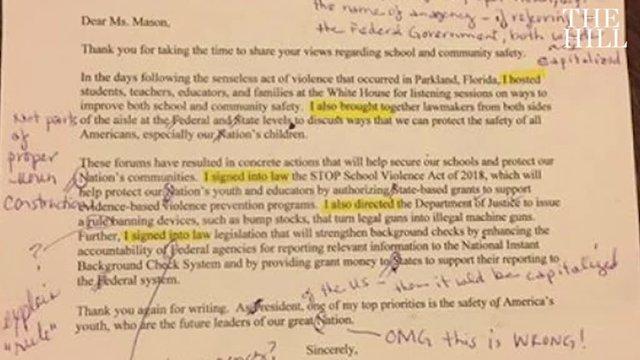 مدرس زبان انگلیسی پس از تصحیح نامه ترامپ: افتضاح بود!