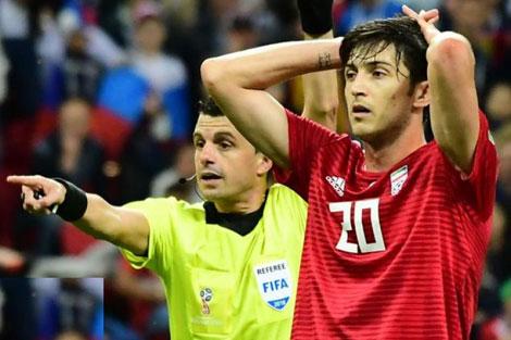 بررسی عملکرد سردار آزمون در بازی با اسپانیا
