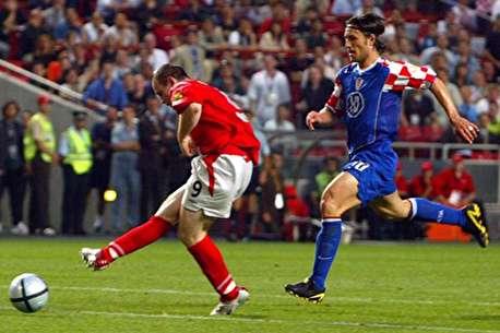 (ویدئو) جدال پرگل انگلیس-کرواسی در یورو ۲۰۰۴