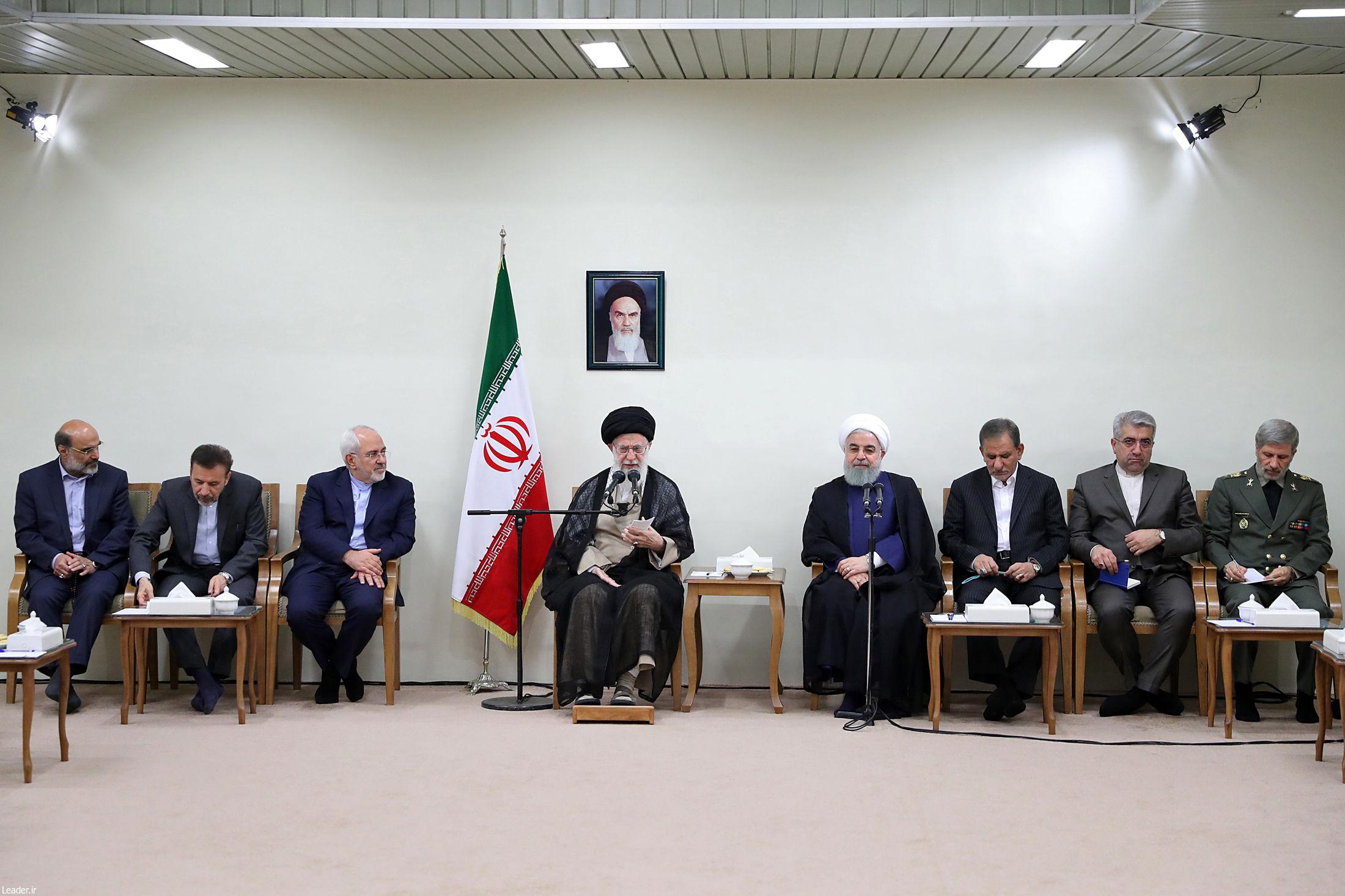 جلسه مهم رهبر انقلاب با اعضای دولت