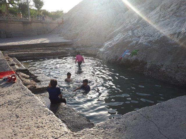 (تصویر) آب به چشمه علی برگشت