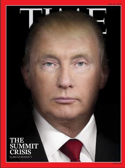 تصویر جالب تایم بعد از دیدار پوتین و ترامپ
