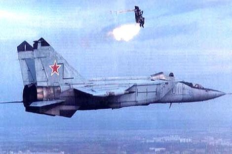 خروج اضطراری خلبان A-۱۰ قبل از سقوط جنگنده