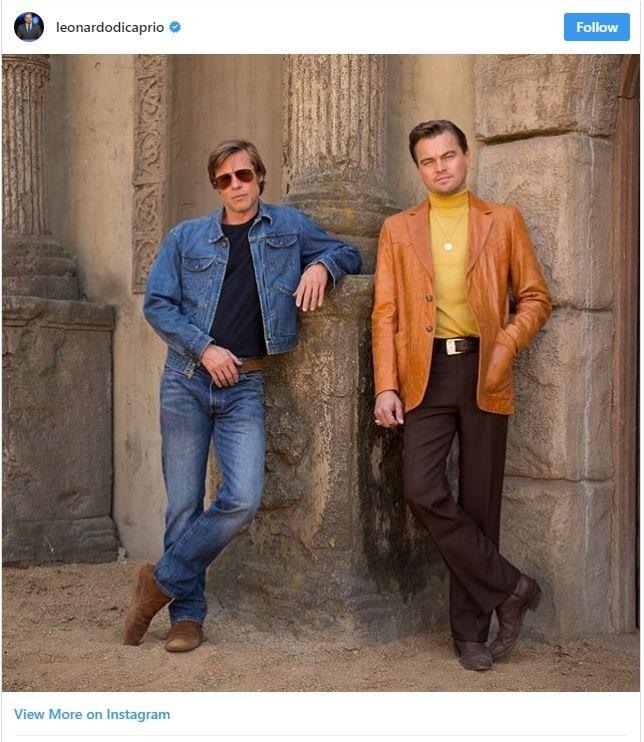 (عکس) تیپ دیکاپریو و برد پیت در فیلم تارانتینو