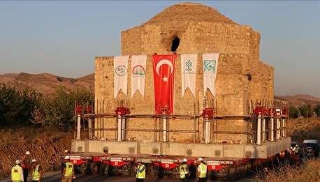 جابجایی های غول آسا، انتقال یک حمام تاریخی در ترکیه!